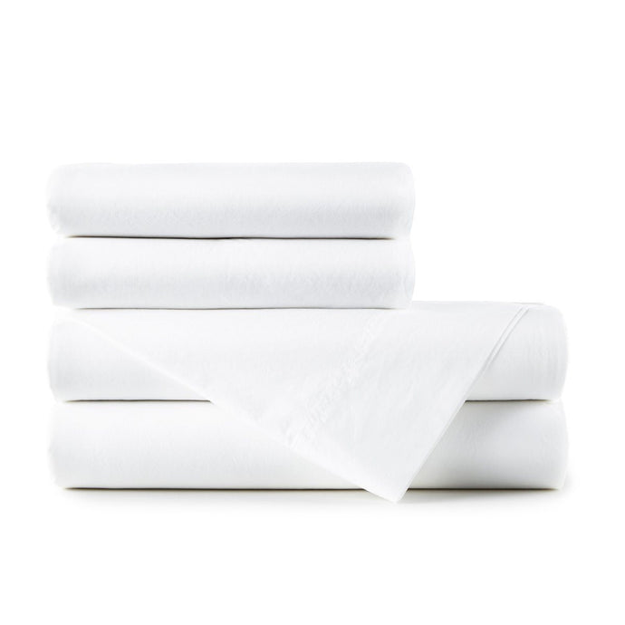 40 Winks white percale sheet set