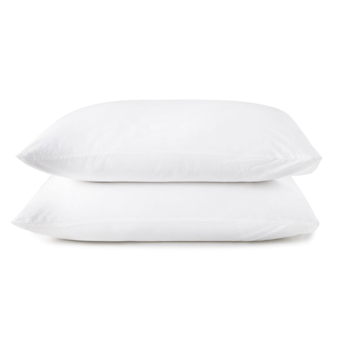 40 winks white percale sleeping shams