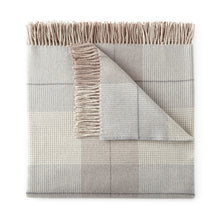 Load image into Gallery viewer, Pewter York Plaid Throw Blanket