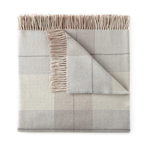 Pewter York Plaid Throw Blanket