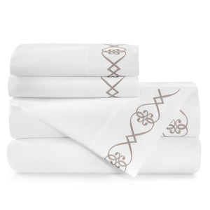 Concerto Embroidered Sateen Sheet Set
