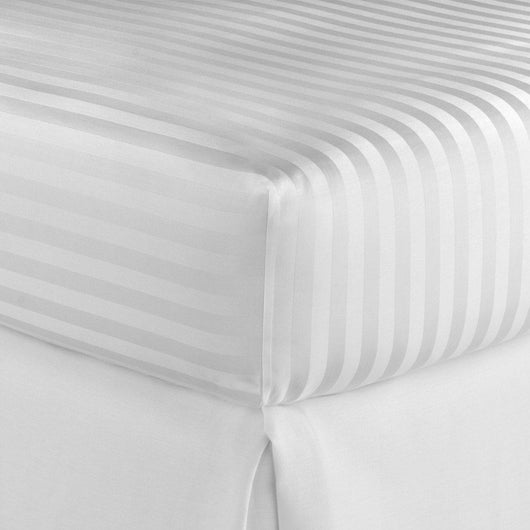 Duet II Striped Sateen Fitted Sheet