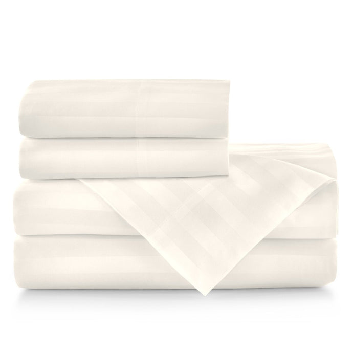 Duet Striped Sateen Sheet Set