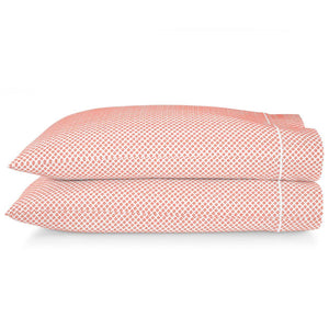 Emma Sateen Pillow cases coral geometric pattern