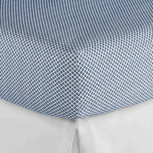 Emma Fitted sheet Blue geometrical pattern