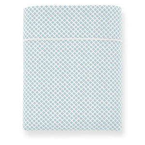 Emma Flat Sheet Aqua geometrical pattern