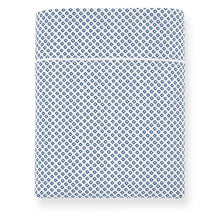 Load image into Gallery viewer, Emma Flat Sheet Blue geometrical pattern