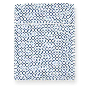 Emma Flat Sheet Blue geometrical pattern