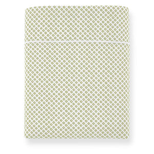 Emma Flat Sheet Green geometrical pattern