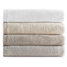 Load image into Gallery viewer, stack of neutral colored cotton bath towels