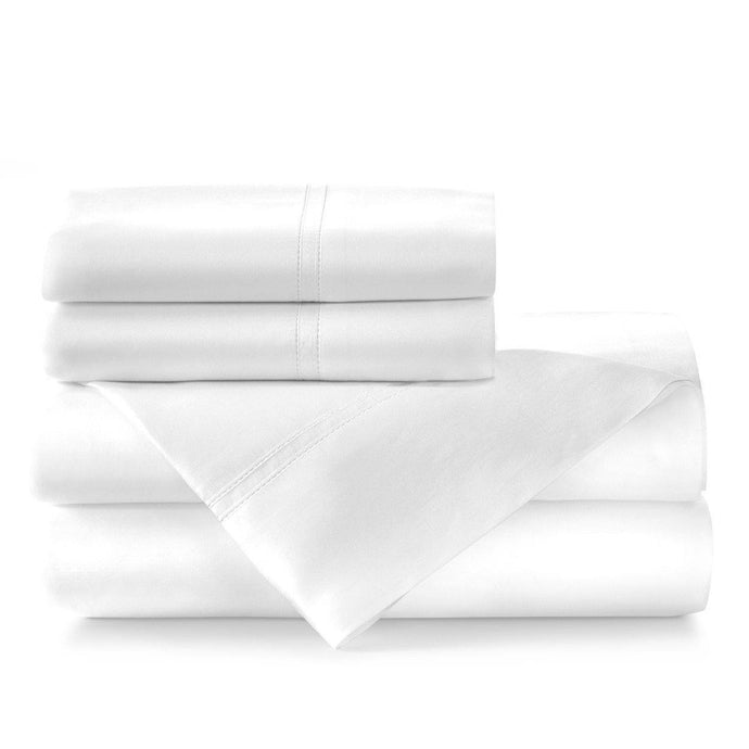 Lyric percale sheet set white