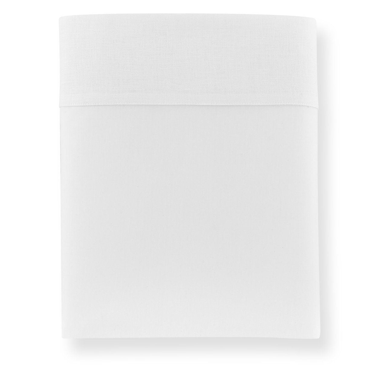 Mandalay Linen Cuff Percale Flat Sheet