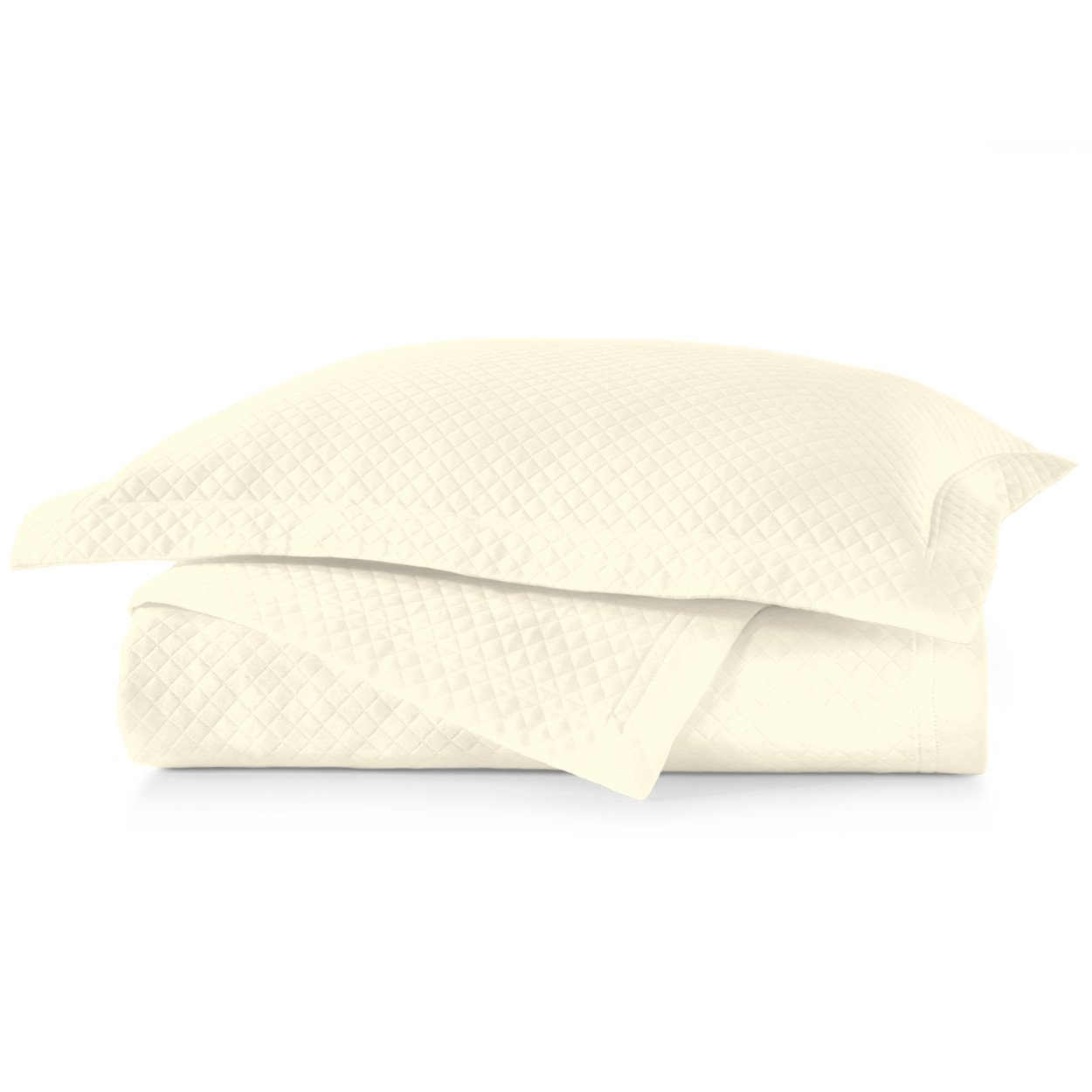 Oxford Ivory Sham on top of Oxford Ivory Coverlet