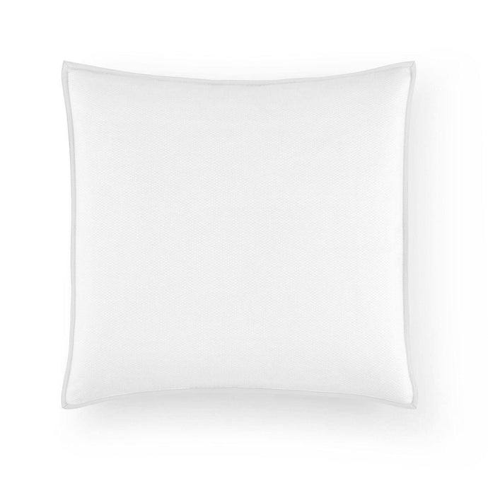 pique square decorative pillow white