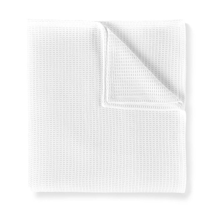 Riviera waffle weave blanket white