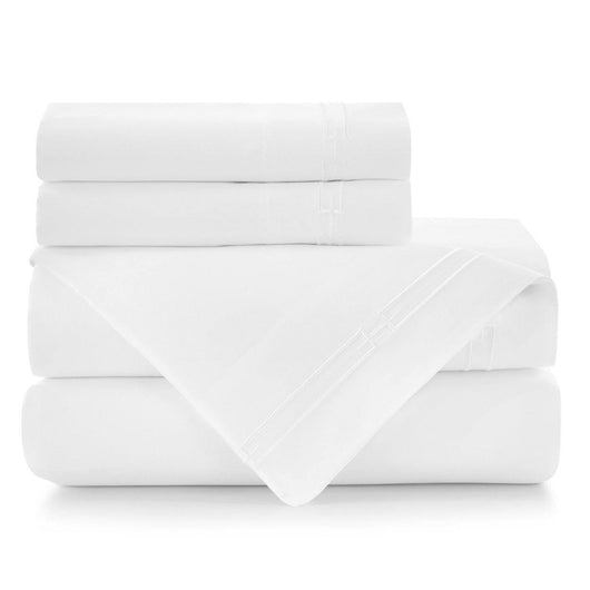 Stanza Embroidered Sateen Sheet Set