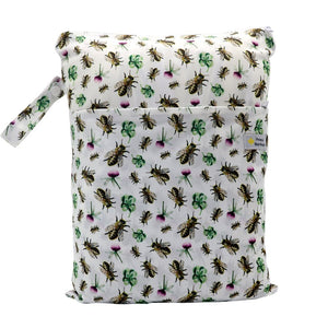Double Pocket Wet Bag by Happy BeeHinds - Bee Happy