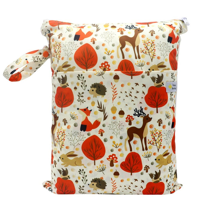 Double Pocket Wet Bag by Happy BeeHinds - Woodland Animals
