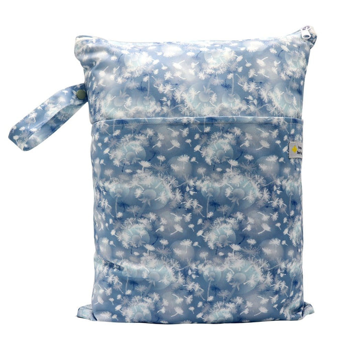 Double Pocket Wet Bag by Happy BeeHinds - Dandelion Fluff Ball