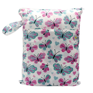 Double Pocket Wet Bag by Happy BeeHinds - Butterfly
