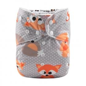 Alva Big Pocket Diaper - Fox - Happy BeeHinds