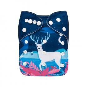 Alva Pocket Diaper - Winter Deer