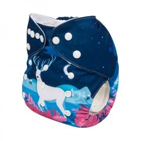 Alva Pocket Diaper - Winter Deer - Happy BeeHinds