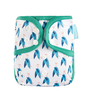 Happy Flute Diaper Cover - Blue Chicken