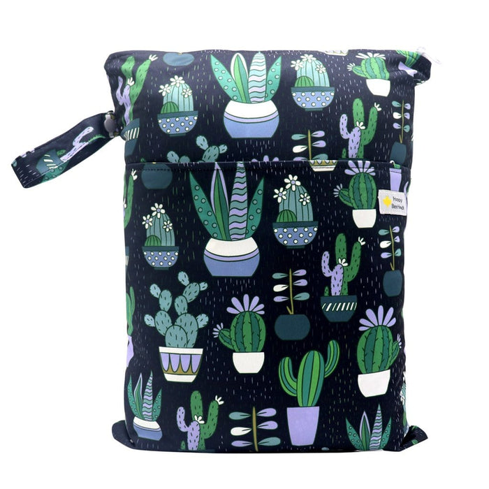 Double Pocket Wet Bag by Happy BeeHinds - Cactus