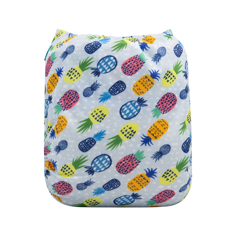 Alva Newborn Snap Pocket Diaper - Pink Daisy - Happy BeeHinds