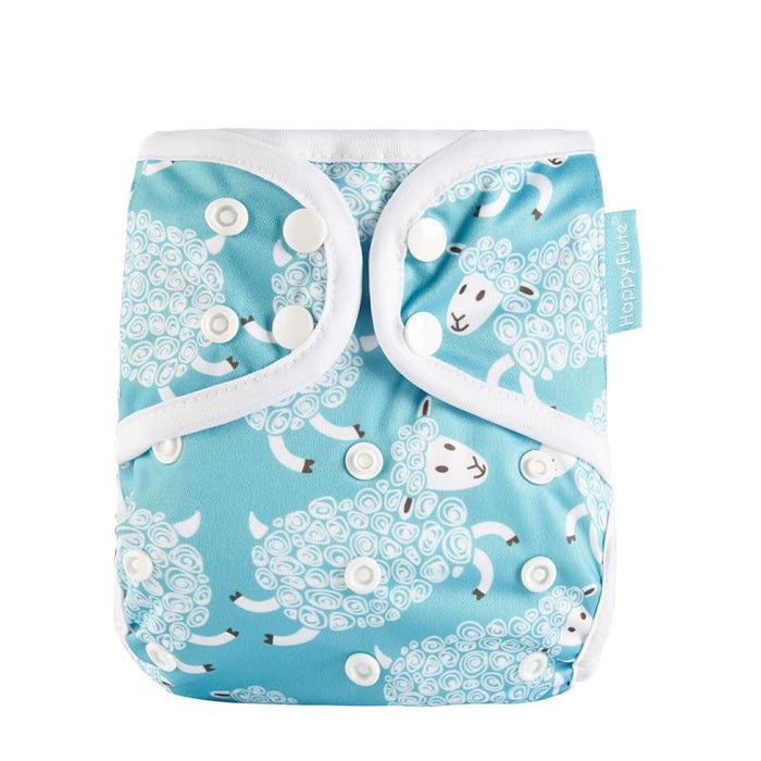 Happy Flute Diaper Cover - Curly Lamb