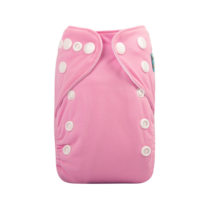 Alva Newborn Snap Pocket Diaper with Insert - Pink