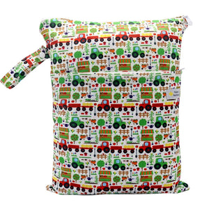 Double Pocket Wet Bag by Happy BeeHinds- Farm Life