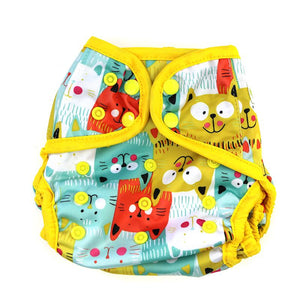Diaper Cover by Happy BeeHinds - Cats