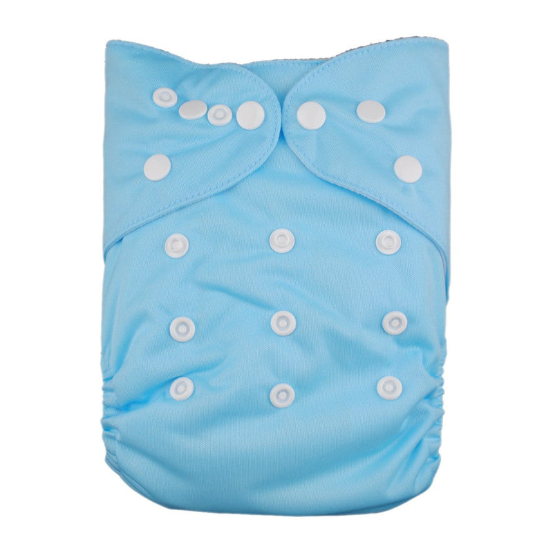 Alva Solid Color Pocket Diaper - Baby Blue - Happy BeeHinds