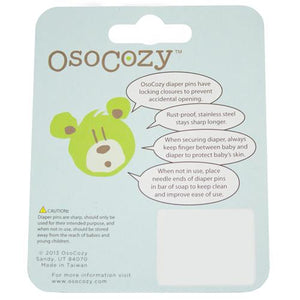 OsoCozy Stainless Steel Plastic Head Diaper Pins