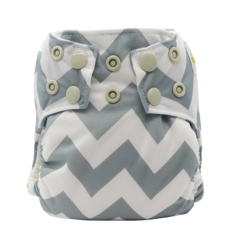 "Perfect Fit Pocket Diaper by Happy BeeHinds  ""Green Chevron"" - Happy BeeHinds"