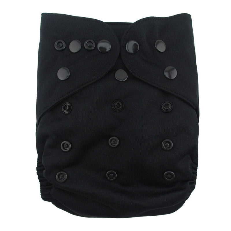 Alva Diaper Cover - Black - Happy BeeHinds