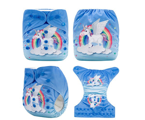 AnAnBaby Limited Edition Pocket Diaper - Unicorn - Happy BeeHinds