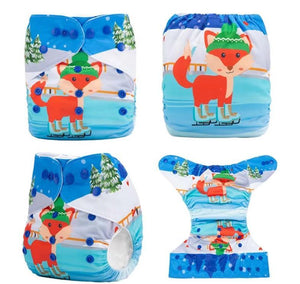 AnAnBaby Pocket Diaper - Ice Skating