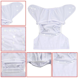 Alva Diaper Cover - White - Happy BeeHinds