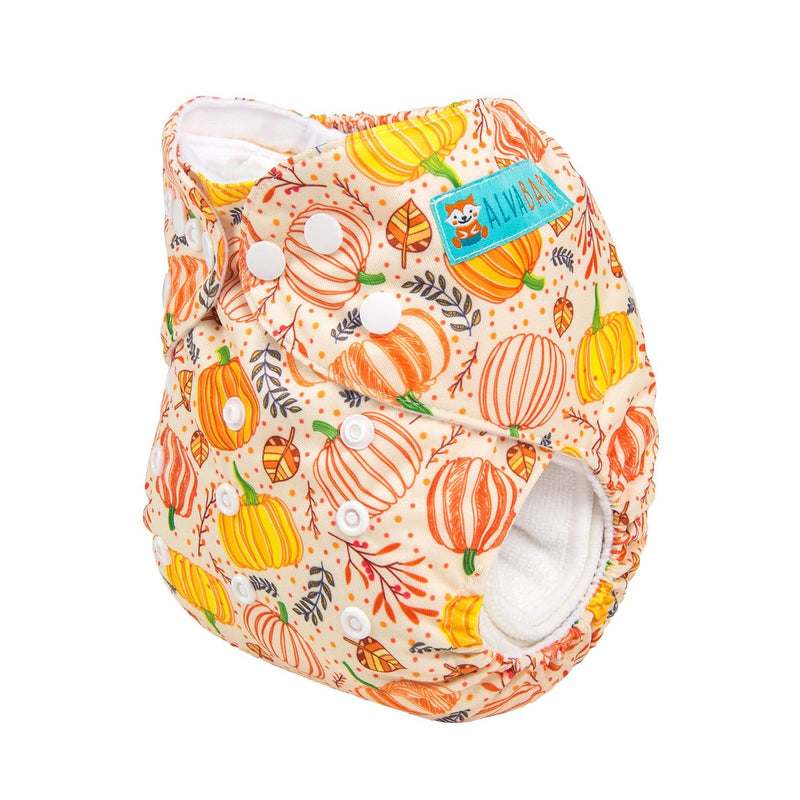 Alva Pocket Diaper - Pumpkins - Happy BeeHinds
