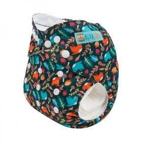 Alva Pocket Diaper - Birds - Happy BeeHinds