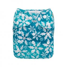 Alva Pocket Diaper - Snowflakes