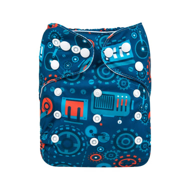 Alva Pocket Diaper - Gears - Happy BeeHinds