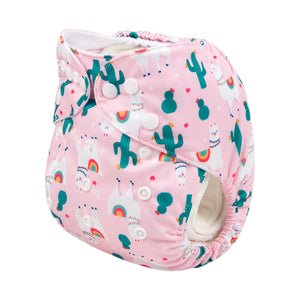Alva Pocket Diaper - Llama - Happy BeeHinds