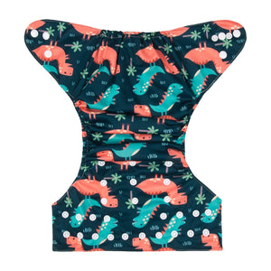 Alva Pocket Diaper - Dino Friends - Happy BeeHinds
