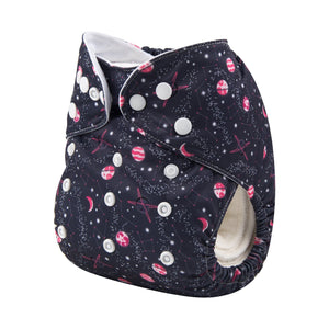 Alva Pocket Diaper - Pink Galaxy - Happy BeeHinds