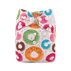 Alva Pocket Diaper - Colorful Doughnuts - Happy BeeHinds