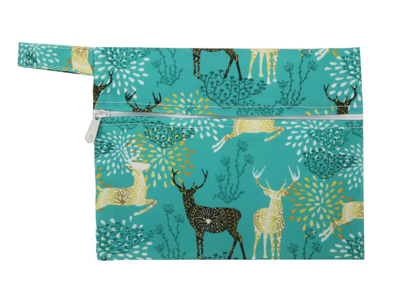 Mini Wet Bag - Regal Deer - Happy BeeHinds
